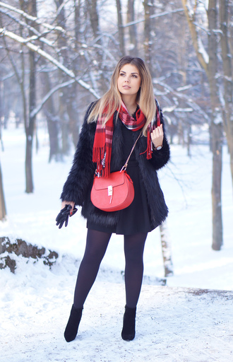a piece of anna blogger bag skirt scarf shoes