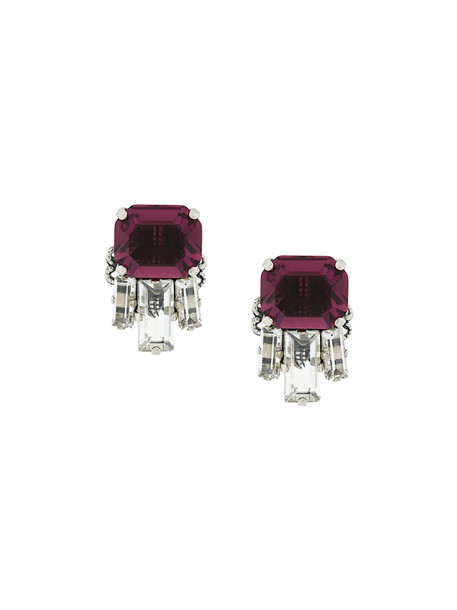 RADÀ women embellished earrings stud earrings purple pink jewels