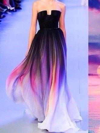 dress black dress pink dress purple dress style cute dress sunrise sunset
