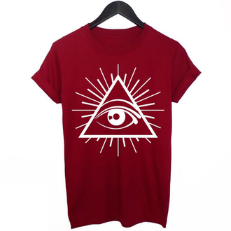t-shirt red illuminati fashion style trendy cool summer boogzel