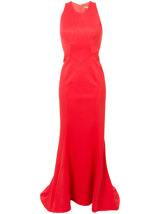 gown women spandex red dress