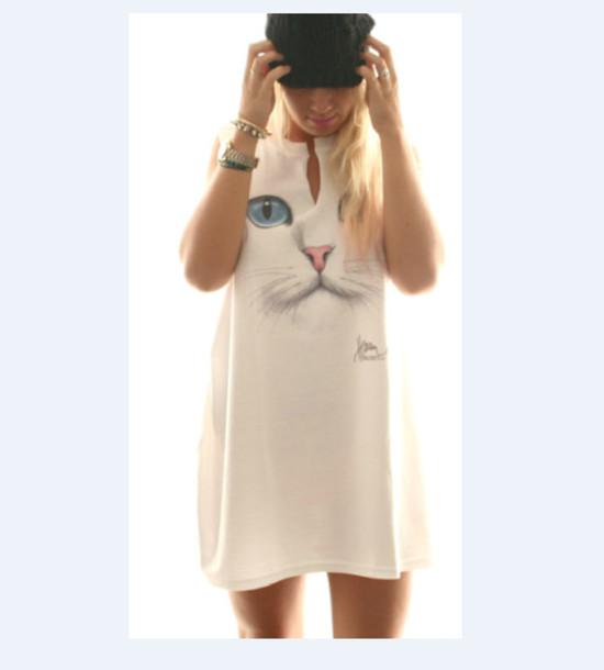 dress mini dress cats carnet de mode bag