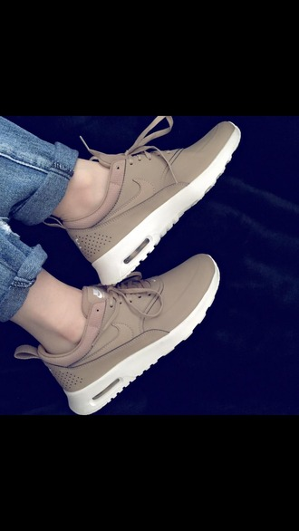 shoes nike nike theas brown sneakers nike sneakers