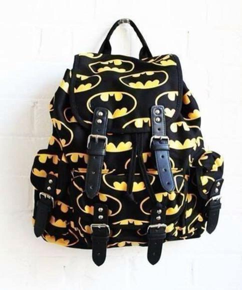batman black bag backpack hippie