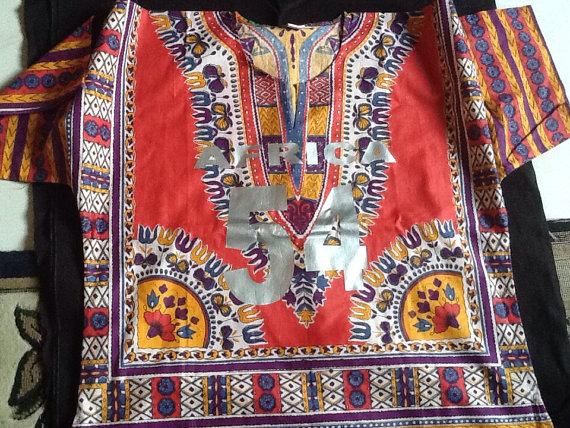 Dashiki print shirt AFRICA 54 by FabianandMom on Etsy