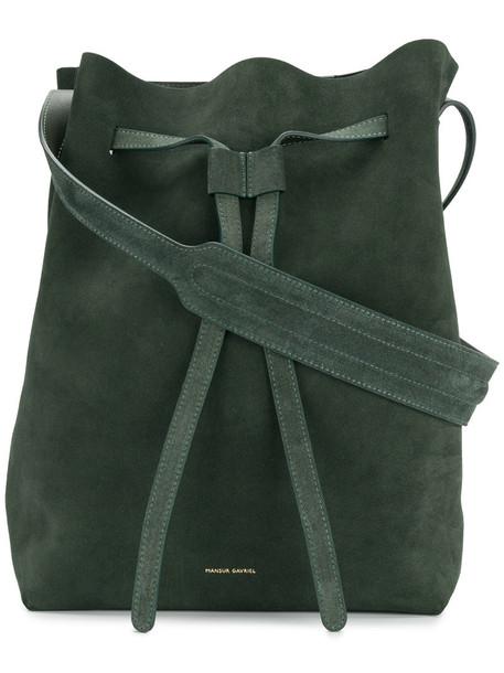 Mansur Gavriel - shopper tote - women - Suede - One Size, Green, Suede