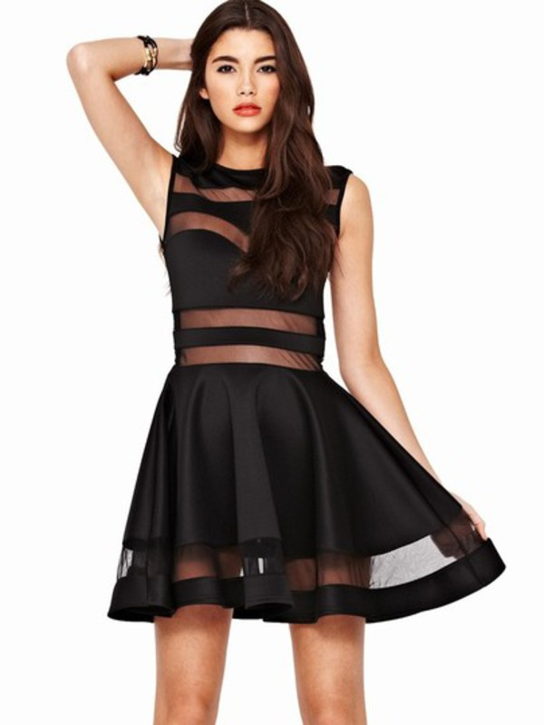 dress sheinside.com black dress