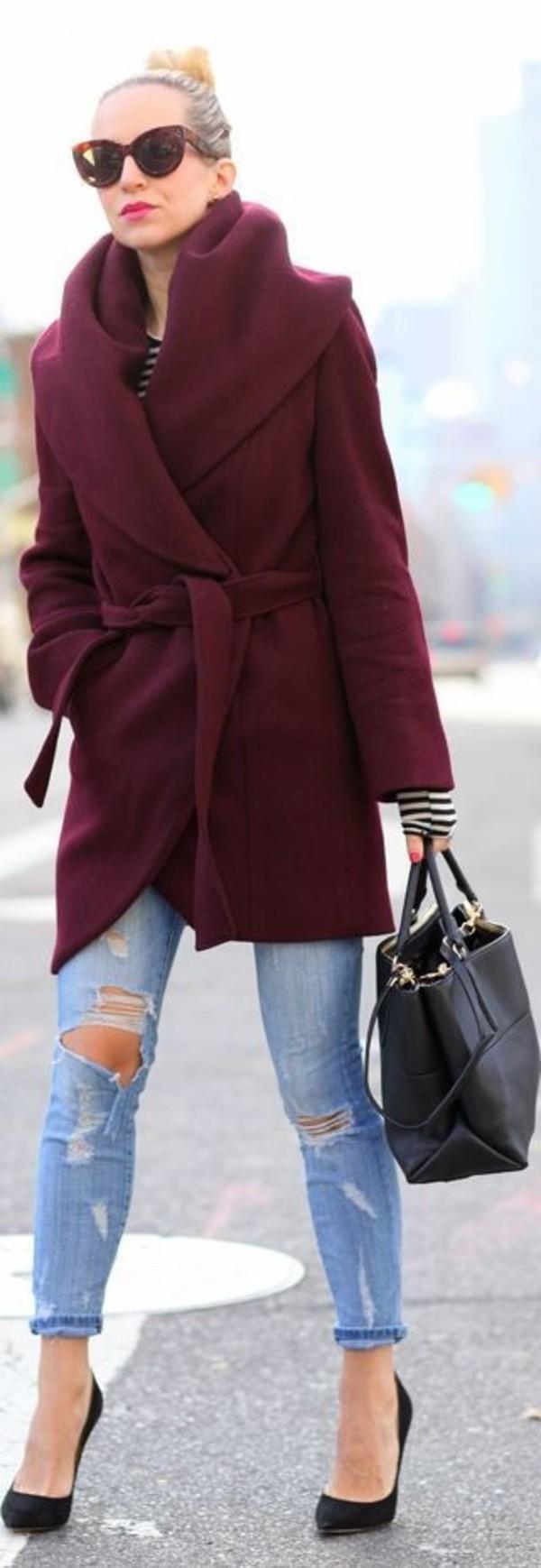coat burgundy