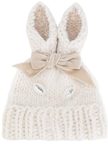 beanie white hat