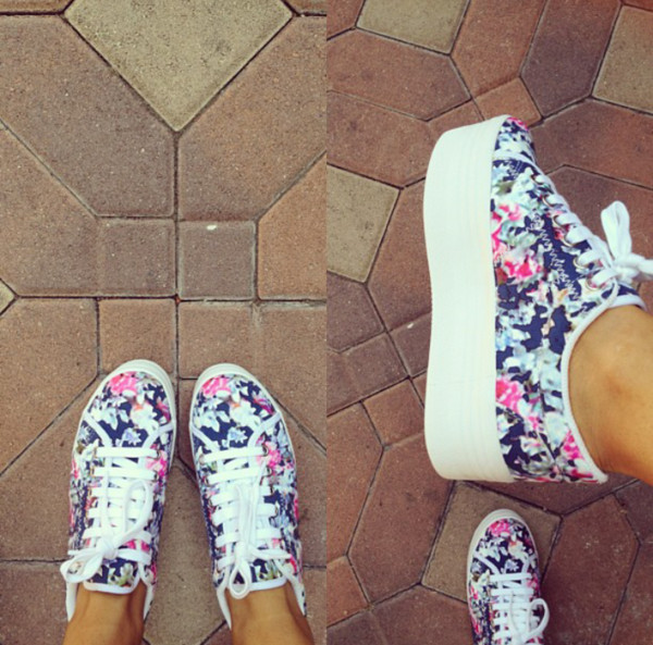 shoes flower shoes ariana grande spring trendy withe flowers