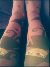 socks,purple,black,orange,witch,karen aguilera