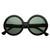 Celebrity Oversize Vintage Jackie O Kennedy Round Designer Sunglasses                           | zeroUV