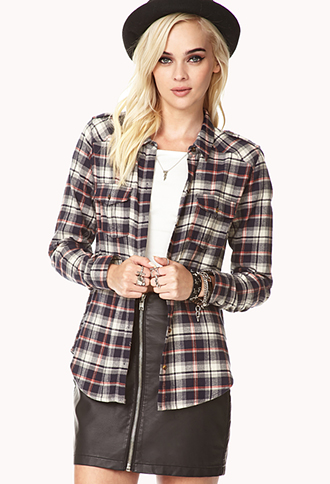 On The Range Plaid Shirt | FOREVER21 - 2002246499