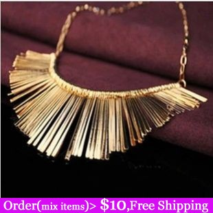 Aliexpress Hot Selling Gold Silver Black Gun Plated Tinsel Tassel Carved Punk attern Choker Collar Necklace-inChoker Necklaces from Jewelry on Aliexpress.com