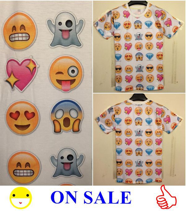 Harajuku New 2014 Women/Men Clothing Funny Cartoon Emoji Print 3D T Shirt Punk Camisetas O neck Short Sleeve Tee Shirts Crop Top-in T-Shirts from Apparel & Accessories on Aliexpress.com