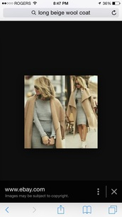 coat,beige jacket,camel coat,long coat,fashion,beige coat