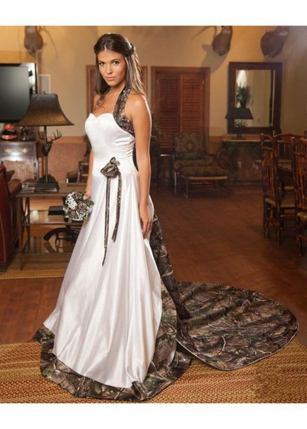 dress white dress camouflage