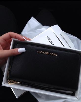 bag wallet michael kors michael kors wallet black wallet clutch