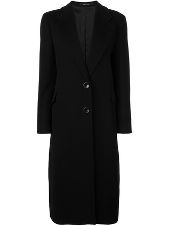 coat women black wool