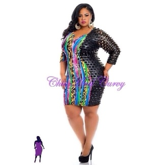 plus size dress edgy colorful