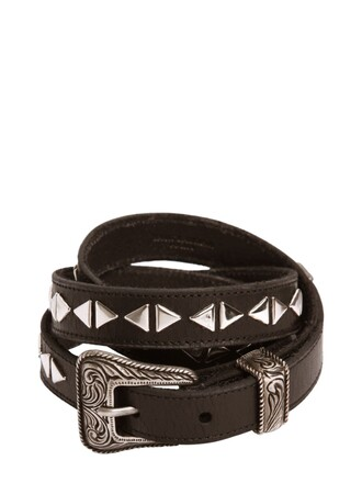 studded belt leather black