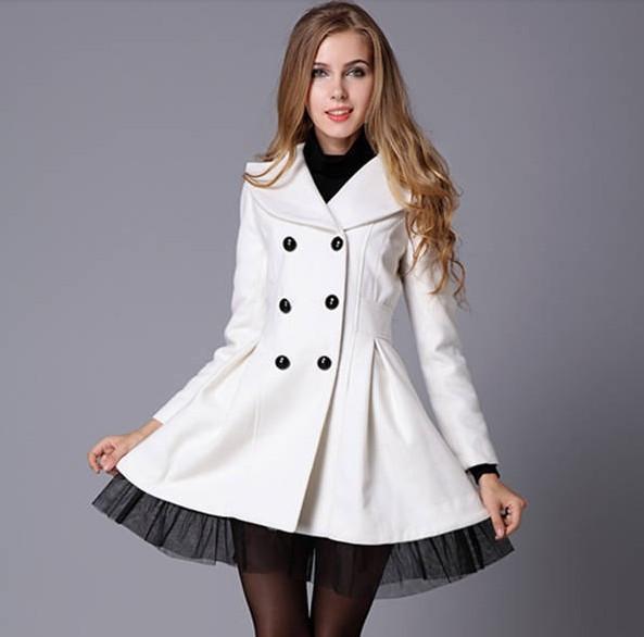 Breasted wool coat bv1015cj