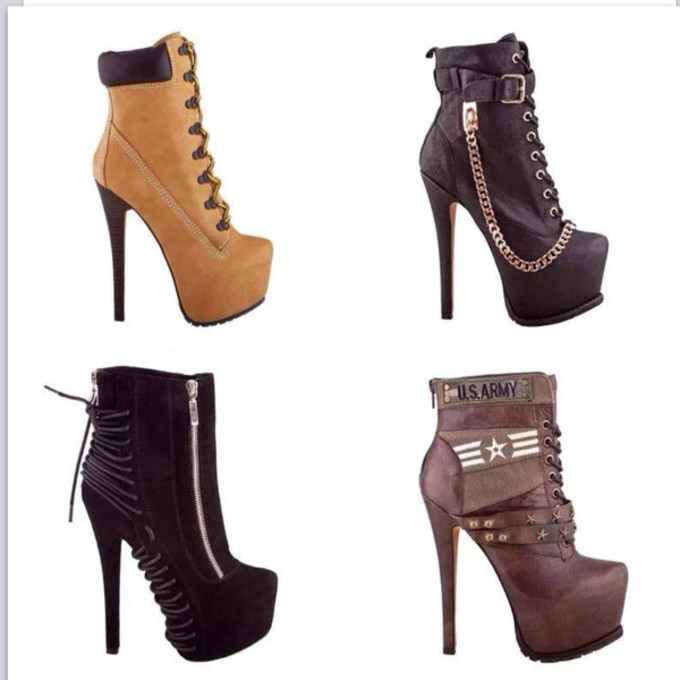 shoes high heels high boots ankle boots brown ankle
