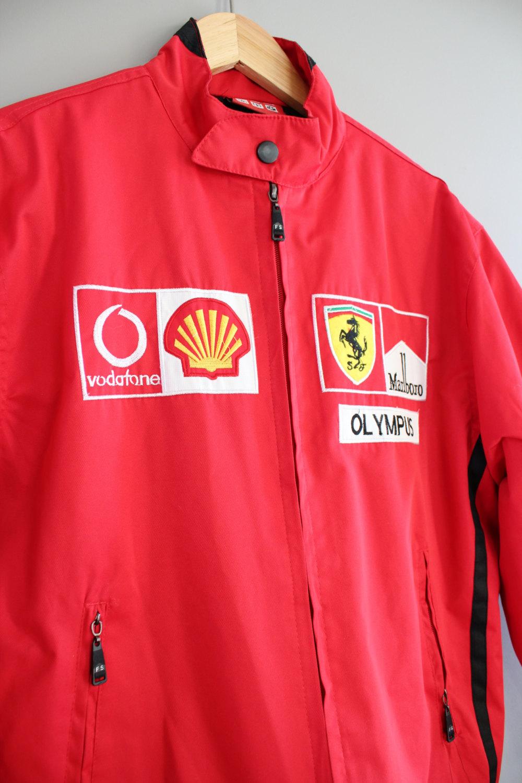 ferrari team car racer jacket red ferrari jacket quilted marlboro