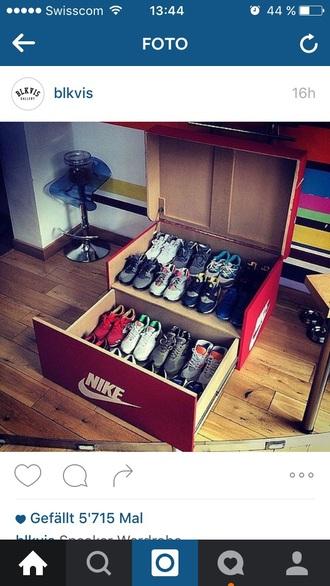 home accessory big shoes box nike adidas