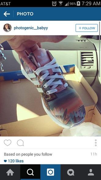 shoes adidas zx flux zx flux peach this please