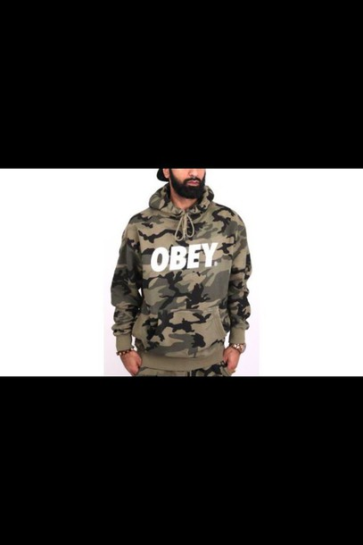sweater obey menswear mens sweater camouflage swag style fashion hippie