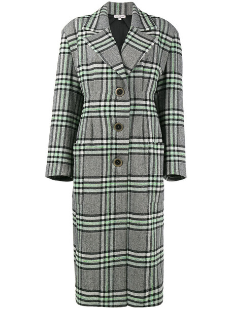 Natasha Zinko coat women silk wool green