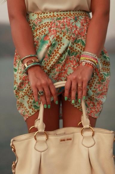 skirt tulip skirt floral floral skirt