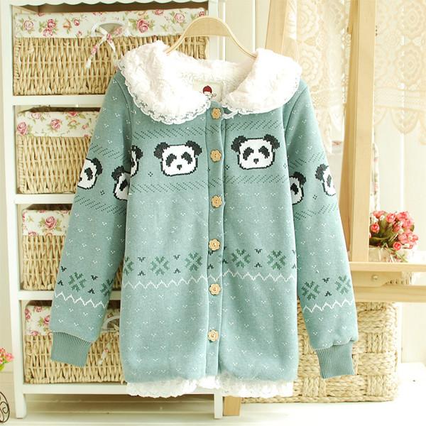 sweater panda jacket coat lace style
