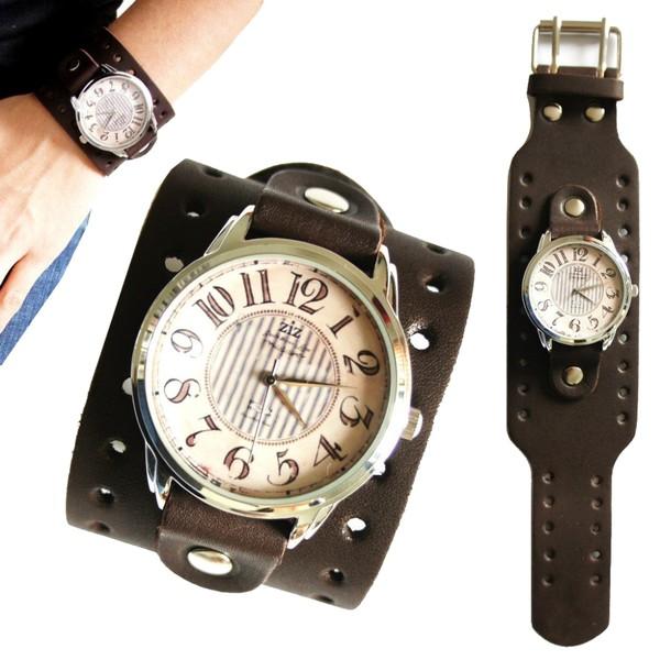 jewels vintage watch watch brown ziz watch ziziztime