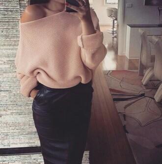 top jumper knitwear skirt