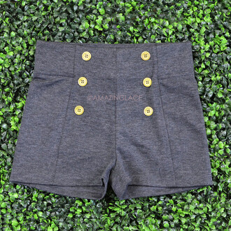 gold buttons shorts nautical high waisted shorts summer outfits beach sea sailor trendy