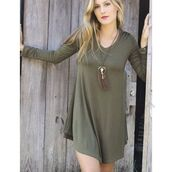dress,amazing lace,fashion,pretty,style,cute,happy,love,trendy,fashionista,fashion blogger,blogger style,olive green,v neck,long sleeves,swing dress,fall style,fall essential,layering essential,boot socks,boots