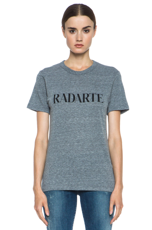 Rodarte | Radarte Poly-Blend Shirt in Heather Grey