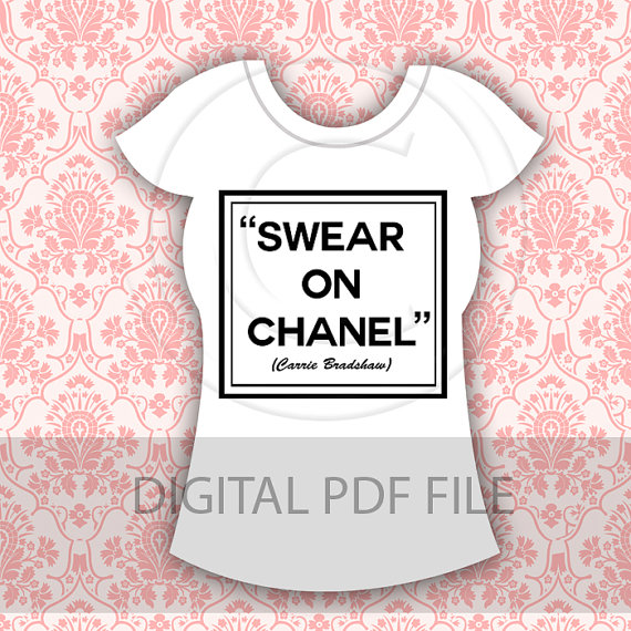 INSTANT DOWNLOAD Swear on chanel design printable by ItGirlDigital