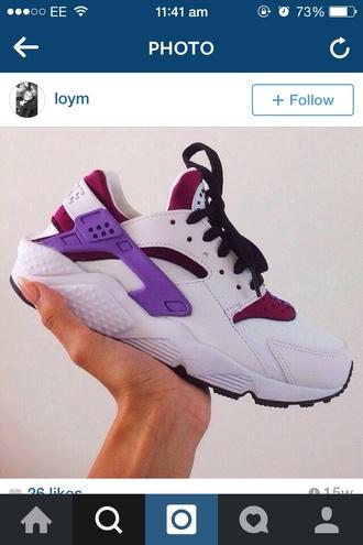 white nike air nike fashion pink huraches hurachi trainers nike purple trainers