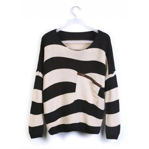 stripes sweater cardigan
