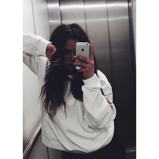 sweater white large jumer