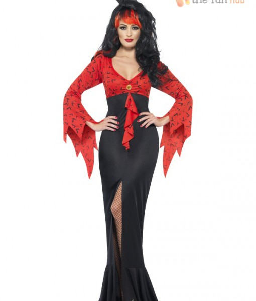 Ladies Long Evil Queen Vampire Fancy Dress Costume Sexy Halloween Womens Outfit | Amazing Shoes UK