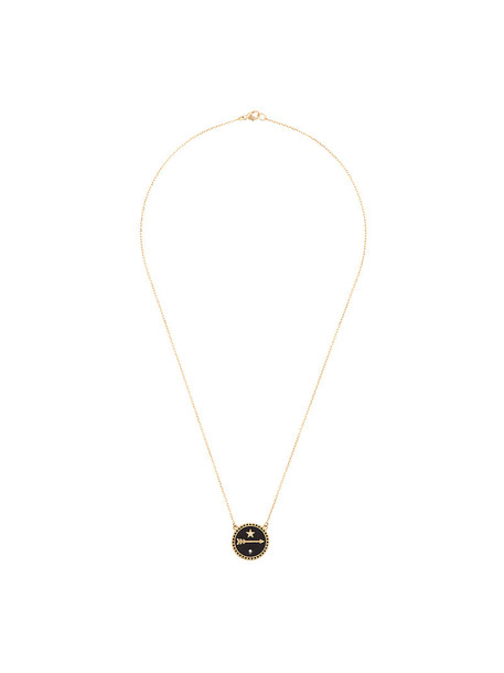 Foundrae women necklace gold black jewels