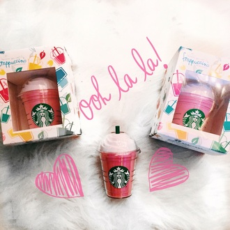 home accessory starbucks coffee power bank portable charger chanel portable charger charger phone phone charger pink coffee girl girly girly wishlist accessories accessory