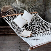 bag,hammock,summer,inie,pillow,boho,bohemian,hippie,sweet,white,hamaca,relax,big,wood,mothers day gift idea