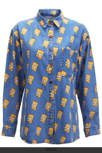 shirt bart simpson the simpsons