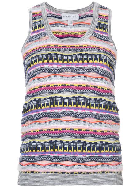 tank top top women cotton knit