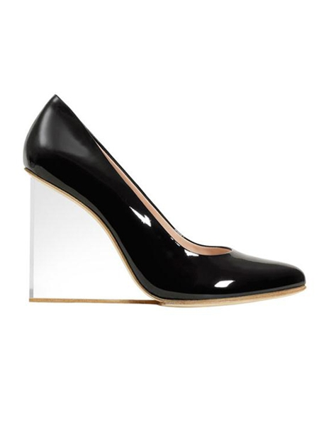 0a9cd2a36f0 Wedge Heel Shoes with Transparent Heels